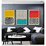Abstract Geometric Wall Art Canvas Painting Multicolored Art Poster Print Wall Picture for Living Room Nordic Home Decor 16x20 inch(40x50cm) x3 No Frame
