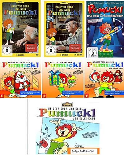 Pumuckl - Super CD/DVD Set: - Staffel 1+2 DVD - Zirkusabenteuer - CD 1-40 - CD X-Mas 1-3 im Set - Deutsche Originalware [11 DVDs/43 CDs]