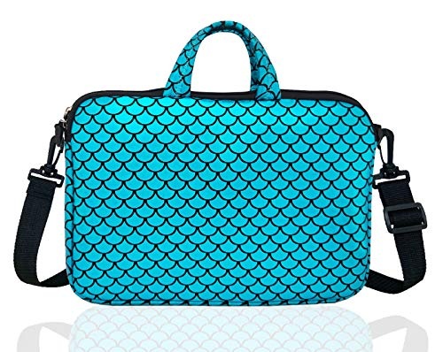 17.3-Inch Laptop Shoulder Carrying Bag Case Sleeve For 17' 17.3 inch HP DELL (Blue)