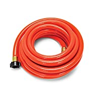 """Camco 25ft RhinoFLEX Gray/Black Water Tank Clean Out Hose - Ideal For Flushing Black Water, Grey Water or Tote Tanks 5/8"""" Inside Diameter (Orange) (22990)"""
