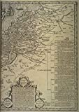 Notebook: King James Version 1611 Folio First Edition Bible Ancient Map of Holy Land: Canaan Galilee Judaea Phoenicia Dead Sea Jordan Egypt Israel ... Garden Herod's Palace Mount Calvary (A4)
