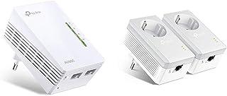 TP-Link TL-WPA4220-1 Adaptadores de Comunicación por Línea Eléctrica (WiFi AV 600 Mbps, PLC con WiFi, Extensor, Repetidores de Red) + TL-PA4010PKIT - PLC 2 Mini Adaptadores