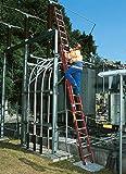 Kunststoff-Schiebe- y Cuerda con Standtraverse 2 X 18 Plantas de Semillero Altura de Trabajo hasta Aprox. 10,30 M