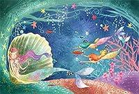 Amxxy 海の下でパーティーベビーシャワーの写真ブースのための10x8ftのおとぎ話の人魚の背景夢のような海底不思議の国の写真の背景子供の誕生日パーティーの写真の支柱