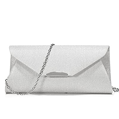 Evening Bag Clutch Handbags Envelope Purse for Women Flap Glitter with Chain Strap