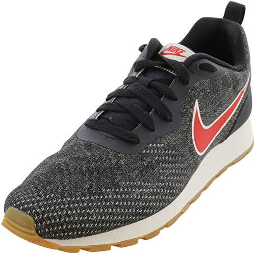 Nike Men's Low-Top Sneakers, Grey Oil Grey University Red Gunsmoke 009, 8 UK