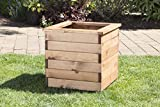 UKG Heavy Duty Large Square Wooden Garden Planter Pot - 47x47x39cm - UK Handmade Fully Assembled