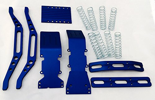 RC Raven T-Maxx Blue Anodized Aluminum Package Super Deal w/Chassis Braces and Free Silver Dual Rate Springs