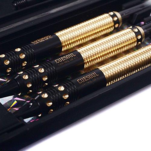 CUESOUL 16 Gramm Soft Tip Darts – gold/schwarz 2 - 5