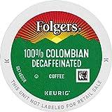 Folgers 100% Colombian Decaf Medium Roast Coffee, 72 K Cups for Keurig Coffee Makers