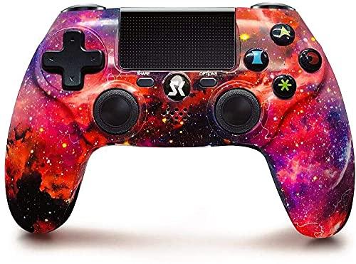 Controller per PS4, wireless, ad alte prestazioni, DS4 Double Vibration Gamepad,per Playstation 4/Slim/Pro(Rosso cosmico)