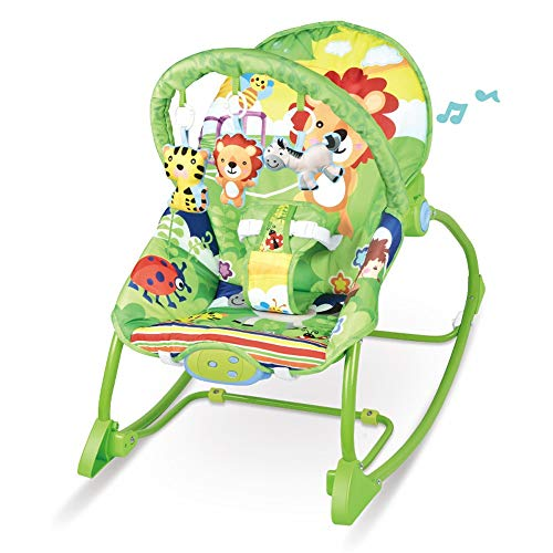Check Out This Btybess Baby Bouncer Baby Rocking Chair Baby Multi-Function Music Vibration Shaker Ch...
