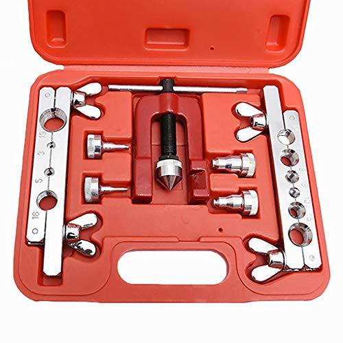 Guangcailun 7pcs métrica de Cobre Freno Frigorífico reparación de tubería Doble de la Quema Dies Sistema de Herramienta de la Abrazadera del Tubo Kit
