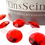EinsSein 1000x Étincelants Cristaux Diamants Acrylique 12mm Rouge Diamant Sable decoratif Cristaux Cristal Diamants Strass Mariage synthétique Perles confettis décoration de Table Decoration Deco