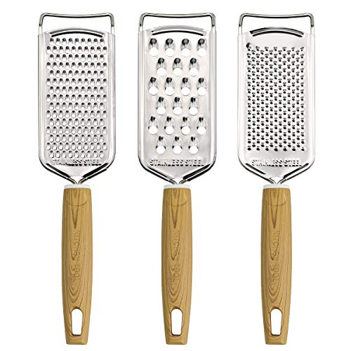MGLIMZ Cheese graters for KitchenStainless Steel MultiPurpose Kitchen Food Grater Slicer for Vegetable Fruit 3PCS