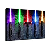 Force Lightsaber Poster HD Print Canvas Painting Star Wars Wall Art Decoration Movie Fan Birthday Gifts