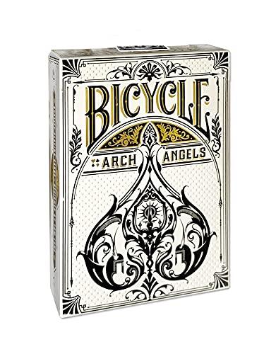 United States Playing Card Company (Bicycle/Bee/Aviator) Bicycle Arcangels, Carte da Gioco Unisex-Adult, Bianco e Nero, Poker 62.5x88 mm