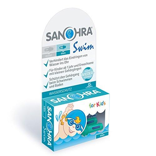 SANOHRA swim für Kinder, Ohrstöpsel zum Duschen, Schwimmen und Baden