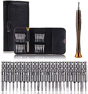 Precision Screwdriver Set 25 in 1,Drillpro HRC52-60 Screwdriver Wallet Kit Set for Mobile Phone, PC Laptop,Macbook,Tablet,...