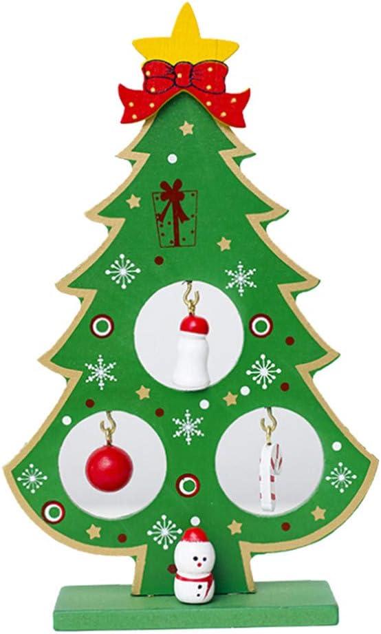 Fossrn Navidad Decoracion Mesa Árbol de navidad Papá Noel ...