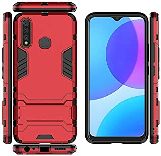 Exclusive Design, Premium Material Cellphone Case Phone Case For Vivo U3 Y19 TPU + PC Shockproof Protective Armor Case With Holder For Vivo U3 Y19 (Color : Red)