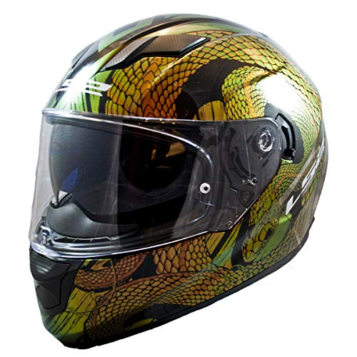 LS2 Helmets Full Face Stream Street Helmet (Sankebite Chameleon - Large)