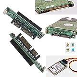 ENET 2X IDE a SATA Adaptador 44 pines 2.5'' IDE HDD SSD Disco duro portátil hembra de 22 pines (7 + 15 pines) macho SATA Convertidor de tarjeta