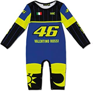 Valentino Rossi VR46 Moto GP Blue Yamaha Baby Grow Overall Suit Official 2019
