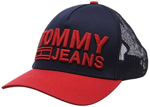 Tommy Jeans Logo Trucker Cap Casquette De Baseball Homme, Noir (Corporate 902), Taille Unique