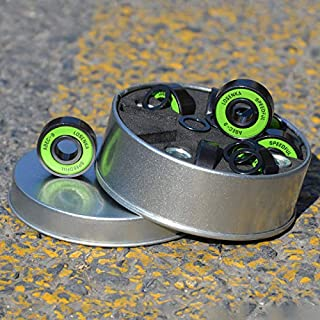 8 Piezas Rodamientos ABEC-9/11 Rodamientos de skateboard Rodamiento de rodillos longboard 608 2RS Rodamientos con espaciadores y arandelas