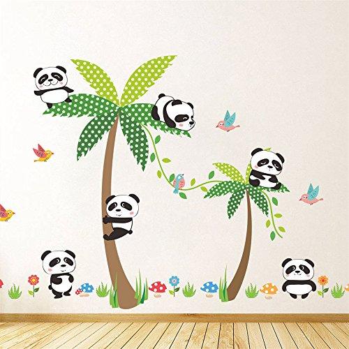 Rainbow Fox Panda Stickers muraux Animal Autocollants des Gamins Chambre Décoration