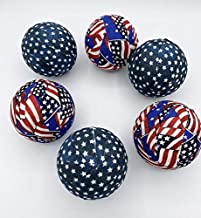 Old Glory Patriotic Flag Fabric Ball Bowl Filler Orbs Set