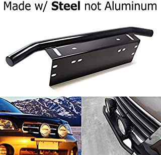 iJDMTOY AA3117- Stainless Steel Front Bumper License Plate LED Lighting Bar
