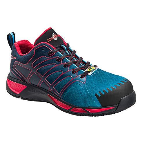 Nautilus Safety Footwear Men's ESD Althletic Sneaker, Blue/Red, 11