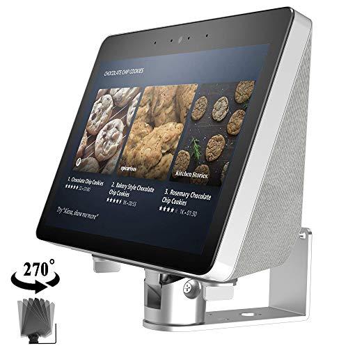 ATOPHK Echo Show Estar,Echo Spot Estar,Aluminio Estar para Amazon Nuevo Echo Show (2ª generación) Lugar Altavoz Accesorios,Horizontal 360 Rotación,Longitudinal Ángulo Cambio Base Negro
