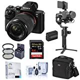 Sony Alpha a7 II Mirrorless Digital Camera with 28-70mm Lens, Gimbal Bundle with DJI Ronin-SC Pro Combo, Bag, 64GB SD Card, Extra Battery, and Accessories
