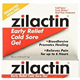 Zilactin Cold Sore Gel, Medicated Gel 0.25 oz ( Pack of 2)