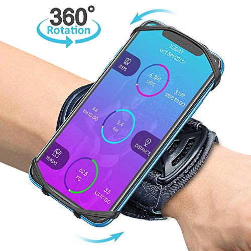 Bovon Brazalete Movil Running, Brazalete Deportivo Transpirable con 360° Rotación & Bolsillito de Llaves Compatible con iPhone 12 Pro Max/12 Mini/iPhone 11pro Max/11pro/11, Samsung Galaxy S9(4