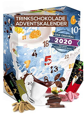 Trinkschokolade Adventskalender Schokolade zum Trinken I Trinkschokolade Probierpacket für eine köstliche Adventszeit I leckere Portionsbeutel I Adventskalender 2021 Trinkschokolade zum auflösen