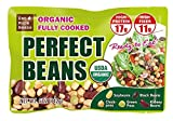 【Eat More Beans】Organic Fully Cooked Perfect Beans (5oz x 12 packs) -...