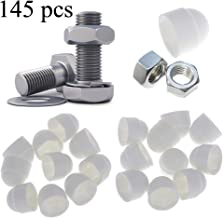 145pcs M4 - M12 White Dome Bolt Nut Protection Caps Cover Hex Hexagon Nuts Cap Nuts Protection Cover Nuts