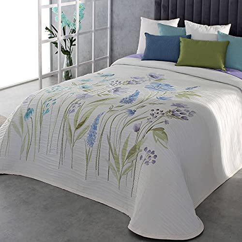 Reig Marti Colcha Capa Olea - Cama 150 Cm - Color Azul C03