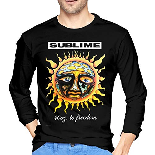 XZShop Sublime 40oz to Freedom Men's Casual Long Sleeve Round Neck T Shirts Tops Black XL