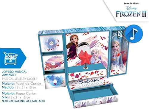 Kids Euroswan- Joyero Armario Musical Frozen 2, Multicolor,