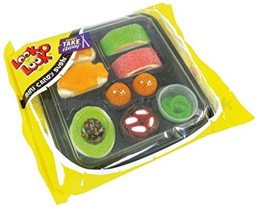 Look de O de Look Candy Sushi, Deliciosos Sushi Caja de fruta goma/Marshmallow–100g