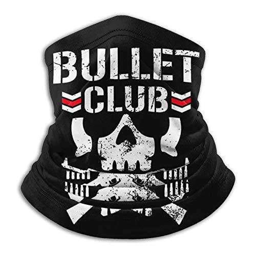 Bullet Club Microfiber Neck Warmer Face Mask Ski Mask Neck Gaiter Face Scarf Outdoor Sports Black