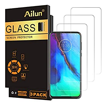 Ailun Screen Protector Compatible for Moto G stylus & Moto G Power & G8 Power 2020 release,6.4 inch display,3 Pack Tempered Glass 9H Hardness Ultra Clear Bubble Free Anti-Scratch Fingerprint Oil Stain Coating Case Friendly