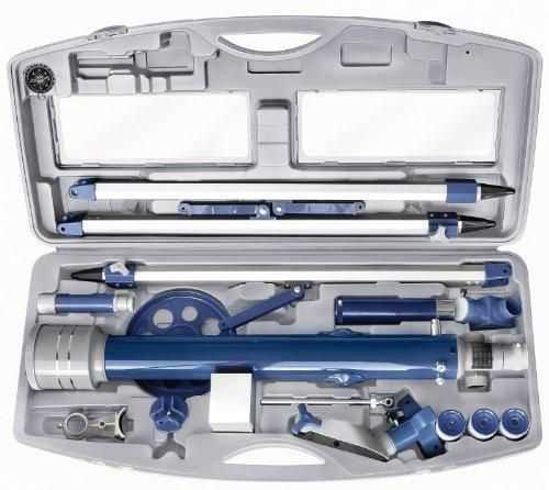 Bresser junior Linsenteleskop 60/700 AZ mit azimutalem Stativ, LED Sucher, Transportkoffer und weiterem Zubehör