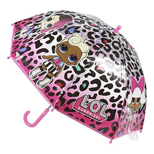 Cerdá-2400-0514 Lol Surprise paraplu, transparant, meerkleurig, 67 x 17 x 17 cm (2400-0514)