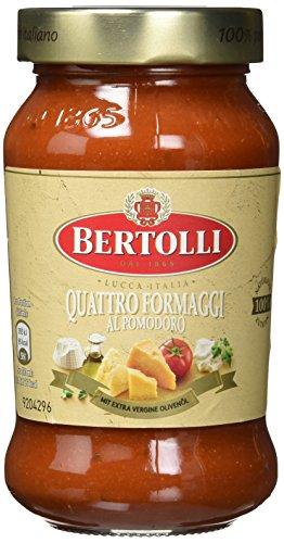 Bertolli Pasta Classico Quattro Formaggi Sauce Glas 400 g, 6-er pack